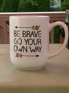 "Gift Wrapped ""Be Brave"" Mug"