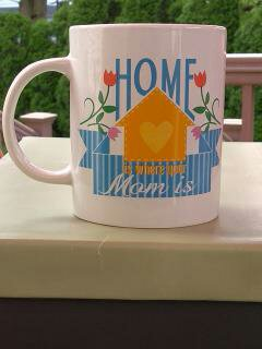 """Home is Where Mom Is"" Gift Wrapped Mug"