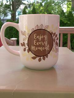 """Enjoy Every Moment"" Gift Wrapped Mug"