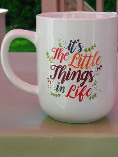 """It's The Little things"" Gift Wrapped Mug"