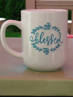 """Blessed"" Gift Wrapped Mug"