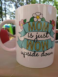 Wow Mom -Gift Wrapped Mug