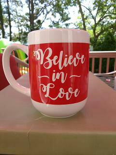 """Believe In Love"" - Gift Wrapped Mug"