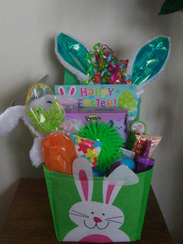 Perfectly Special - Gluten Free/Dairy Free Kids Easter Basket - Green(Bunny)