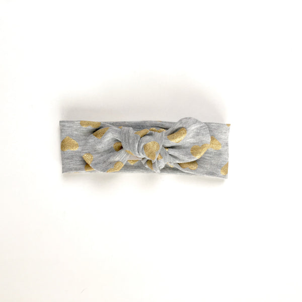 Heart of Gold Tie Headband