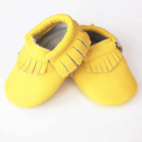 Lemon Yellow Moccasins