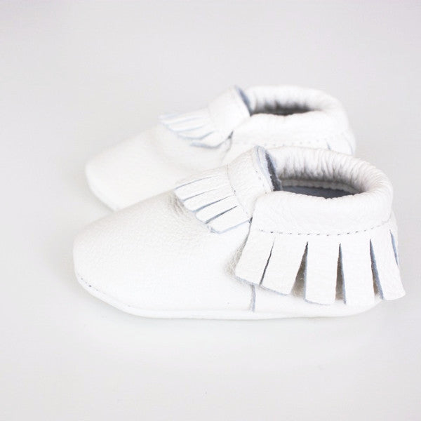 Soft White Moccasins