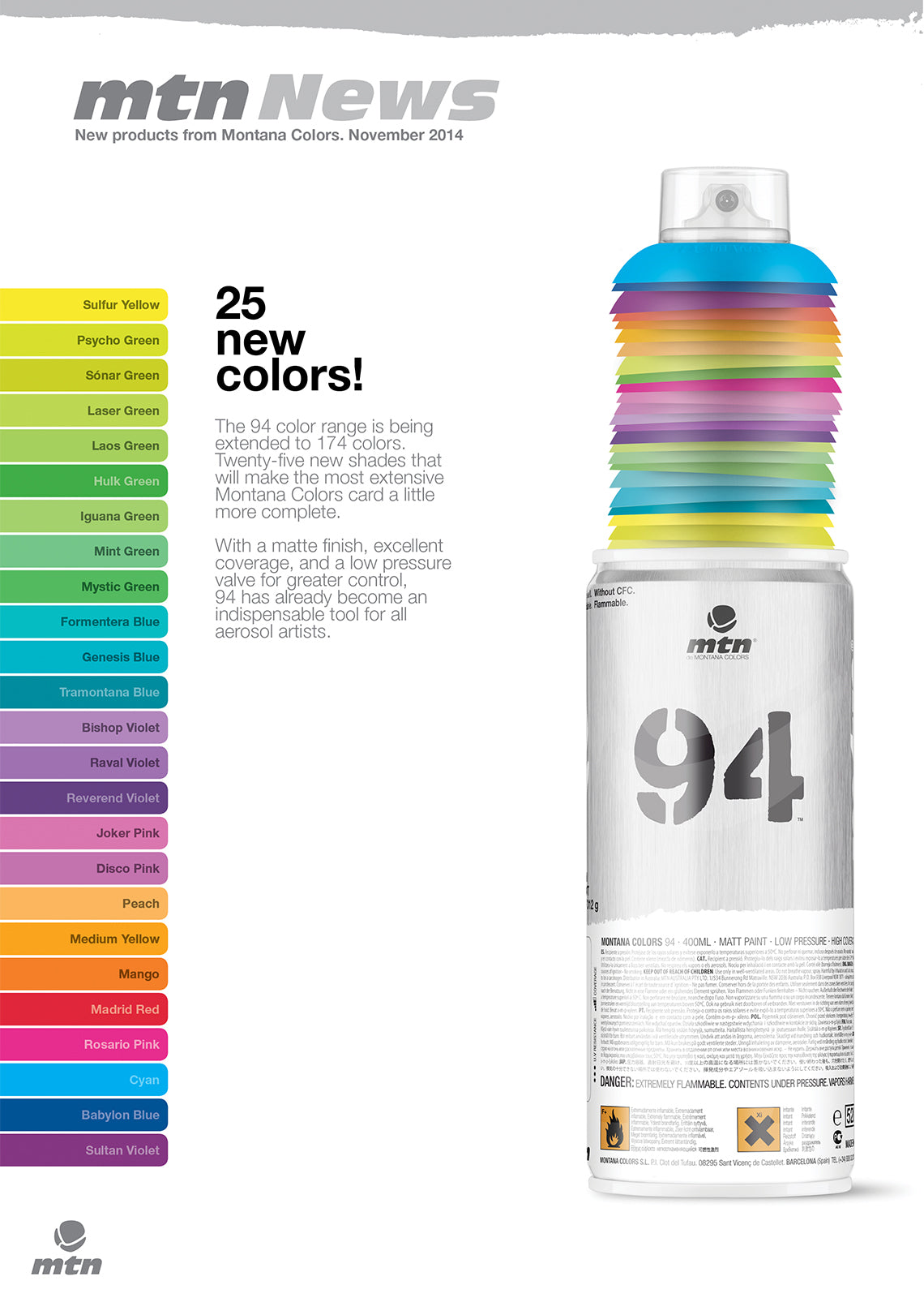 25 New Colours 1