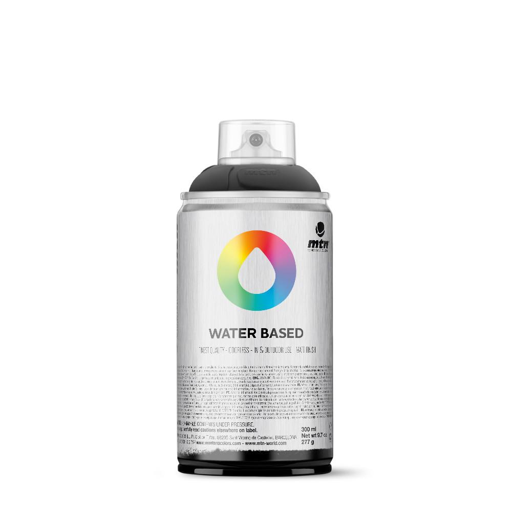 MTN Water Based 300ml Spray Paint - WRV - Transparent Black