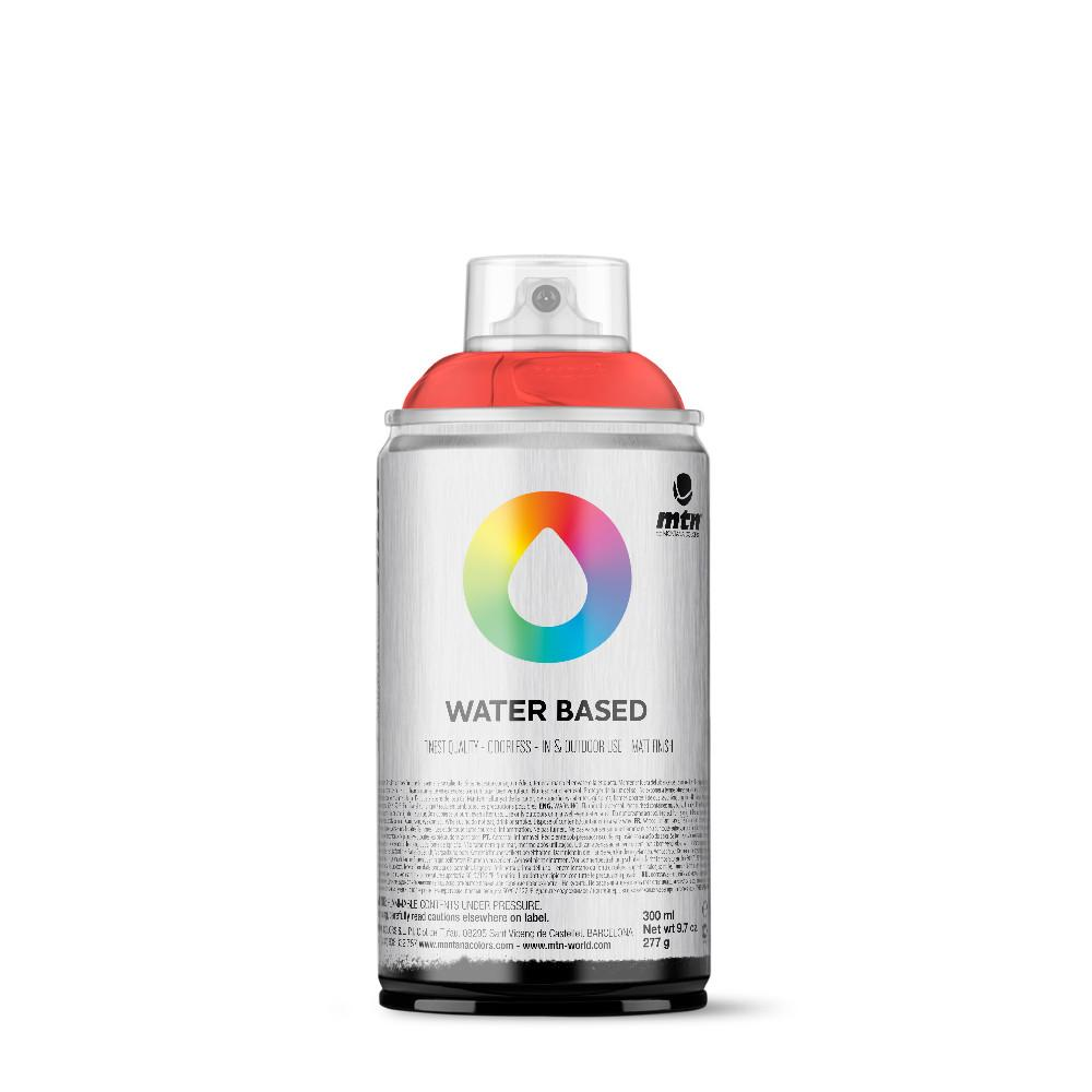 MTN Water Based 300ml Spray Paint - WRV - Fluorescent Red