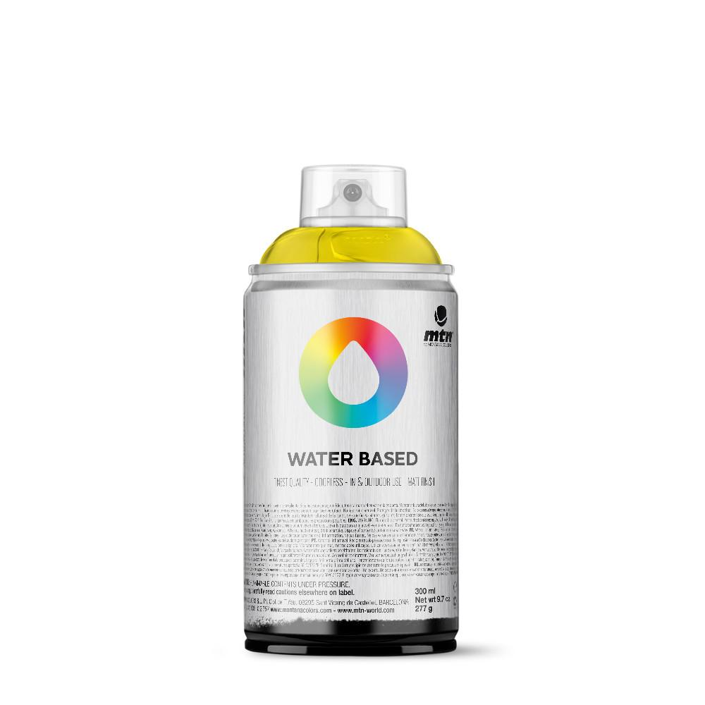 MTN Water Based 300ml Spray Paint - WRV - Fluorescent Yellow