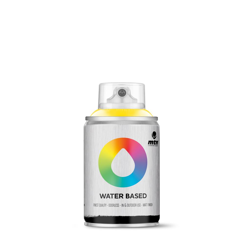 MTN Water based 100ml Spray paint - W1RV1021 - Cadmium Yellow Medium