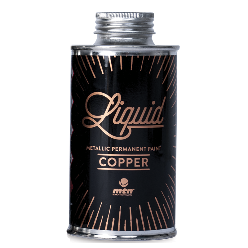 Liquid Copper Metallic Paint
