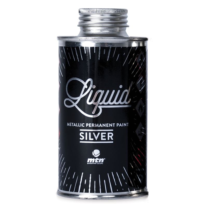 Liquid Silver Metallic Paint