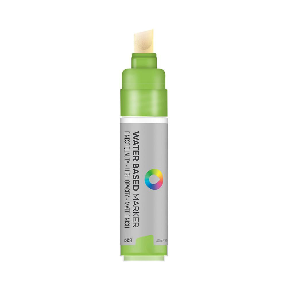 Water Based 8.0mm Chisel tip Marker - Brilliant Light Green