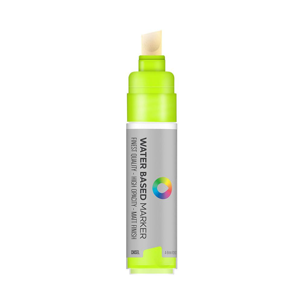 Water Based 8.0mm Chisel tip Marker - Brilliant Yellow Green
