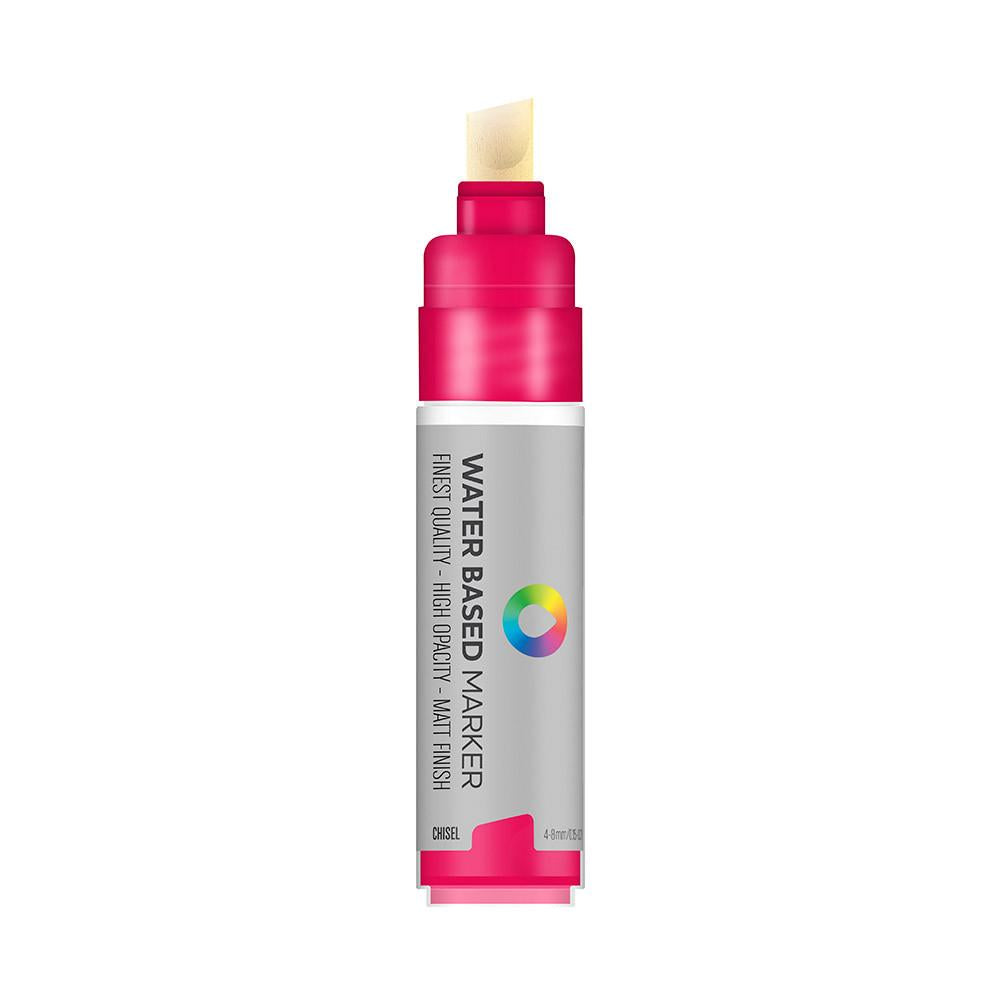 Water Based 8.0mm Chisel tip Marker - Quinacridone Magenta