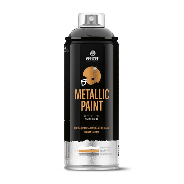 MTN PRO Spray Paint - Metallic Black 400ml