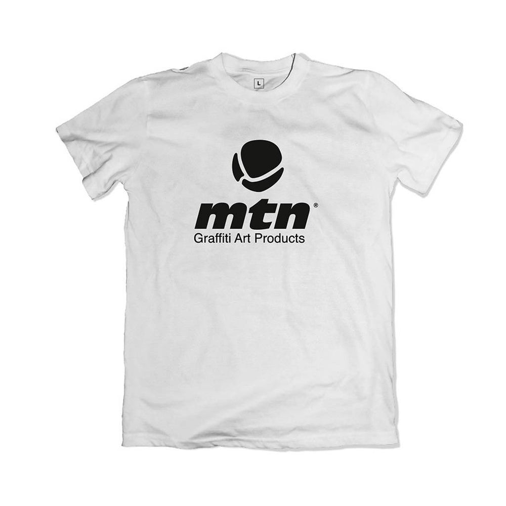 MTN T-Shirt Basic Large Front Logo - White