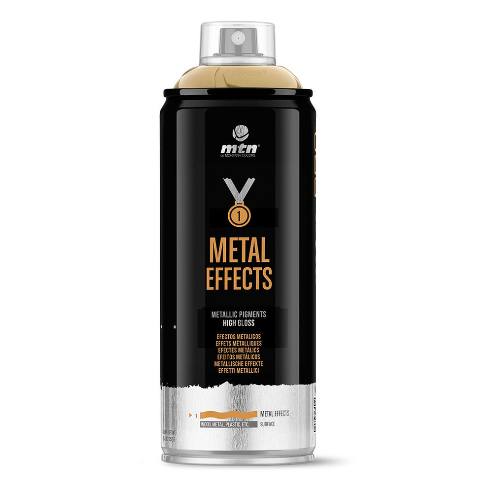 MTN PRO Spray Paint - Metal Effects 400ml - Gold