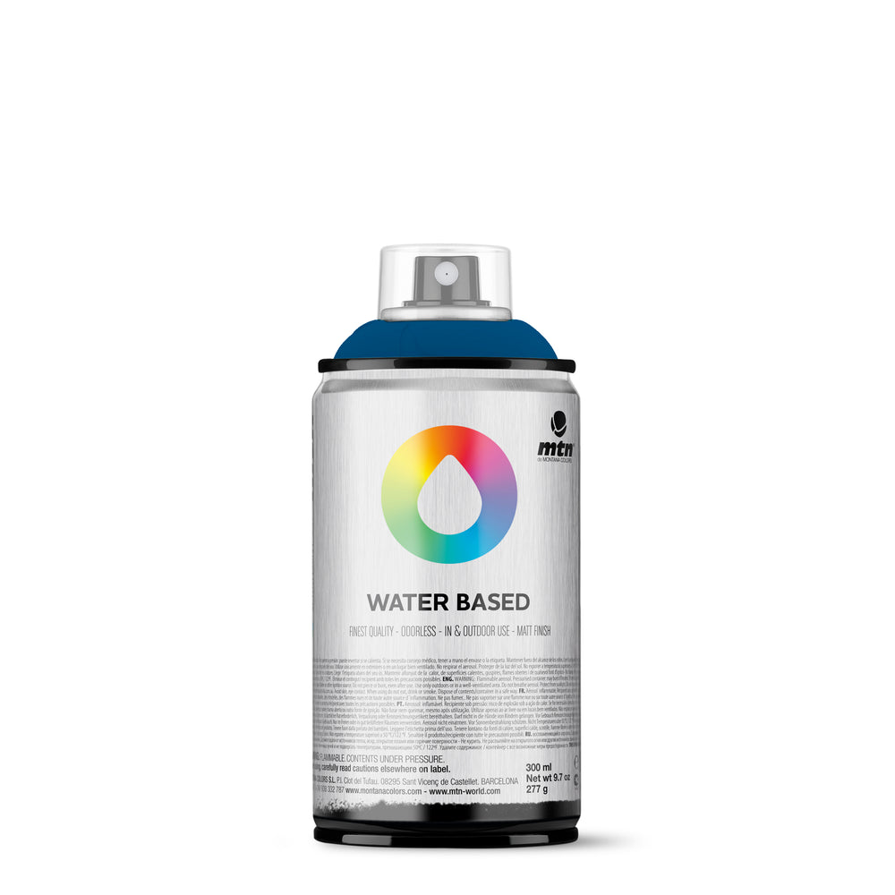 MTN Water Based 300ml Spray Paint - RV154 - Prussian Blue Deep