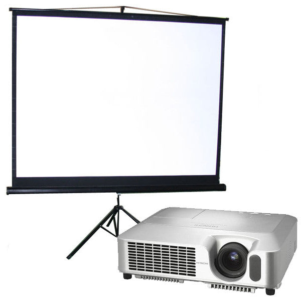 Hi-res Projector with White Screen