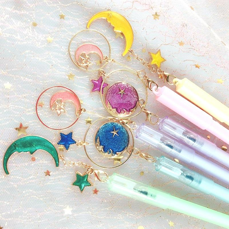 Pastel Moon & Stars Pen Set (Pack of 6)