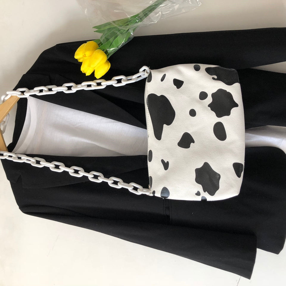 Moo Moo Cow Chained Shoulder Bag
