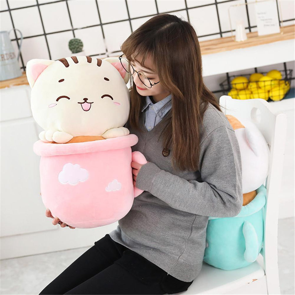 Kitty in Cup Plush & Blanket