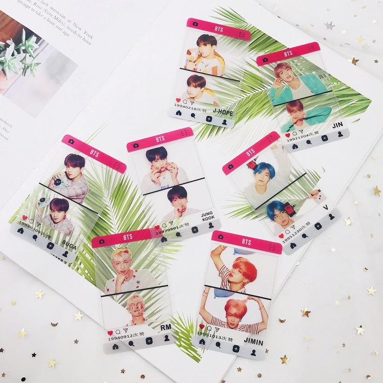 BTS Map Of The Soul PERSONA Transparent IG Photo Cards - Totemo Kawaii Shop