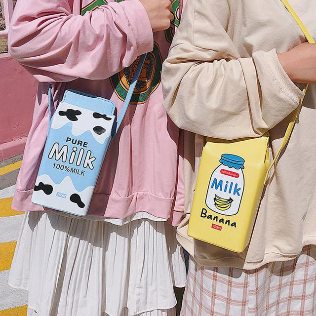 I Love Milk Shoulder Bag