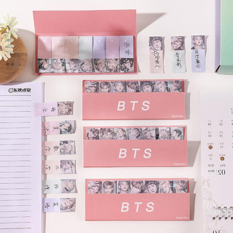 Retro BTS Sticky Notes