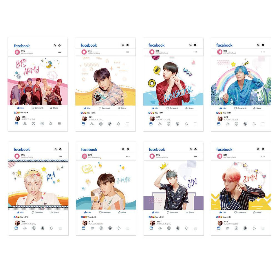BTS Map Of The Soul Facebook Photo Cards