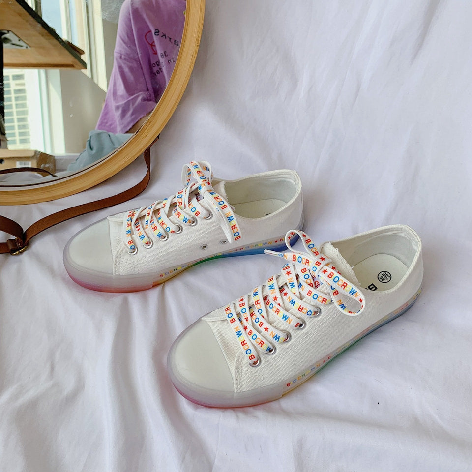 All Over Rainbow Low Top Shoes