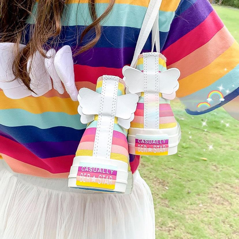 Angel Wings Rainbow Pastel Sneakers