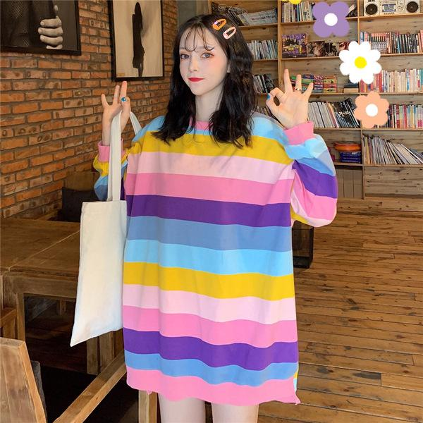 Pastel Ulzzang 'Oversized' Long Sleeve Tee
