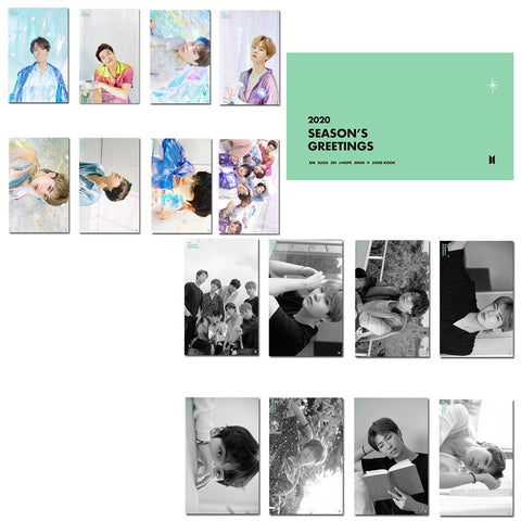BTS 2020 Season's Greeting Transparent Photo Cards
