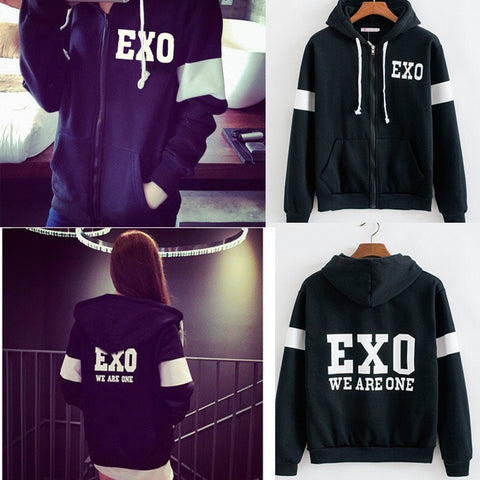 EXO Zip-Up Hoodie - Totemo Kawaii Shop