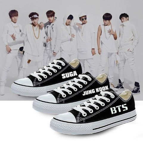 BTS Bias Low Top Glow in Dark Sneakers - Totemo Kawaii Shop
