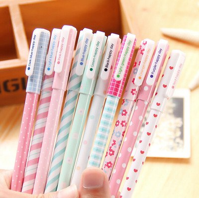 Colorful Kawaii Flower Gel Pen Set (Pack of 10 Pieces) - Totemo Kawaii Shop