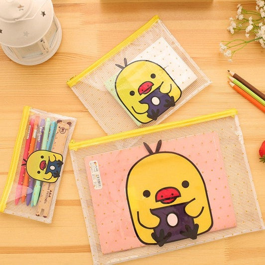 Baby Duckie Transparent Folder - Totemo Kawaii Shop