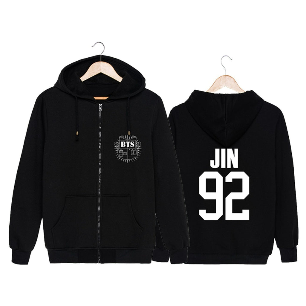 BTS Zip-Up Hoodie - Totemo Kawaii Shop