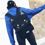 Happy Kawaii Cat Canvas Backpack - Totemo Kawaii Shop