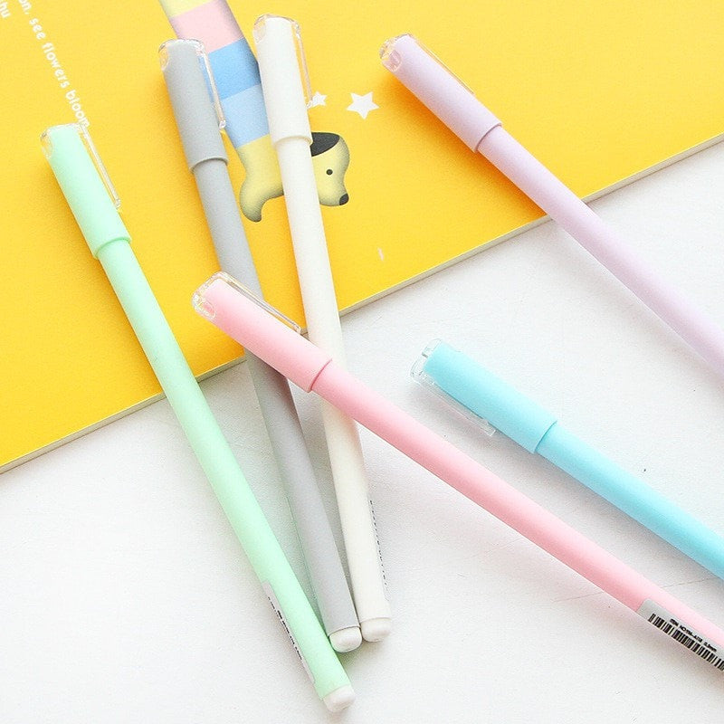 Pastel Macaroon Pen Set (Pack of 6 Pieces) - Totemo Kawaii Shop