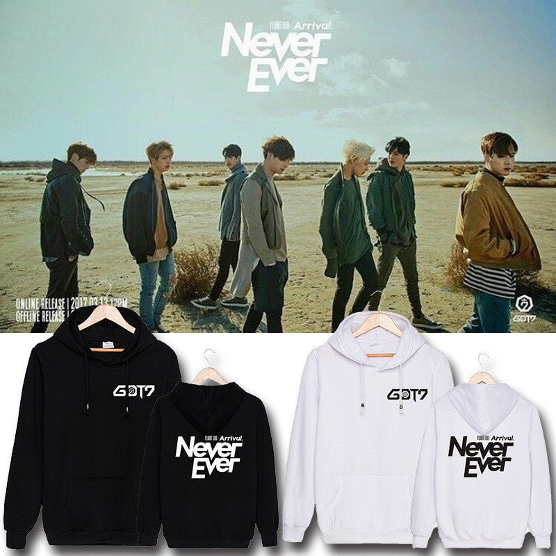 GOT7 Flight Log: Arrival / Never Ever Hoodie - Totemo Kawaii Shop