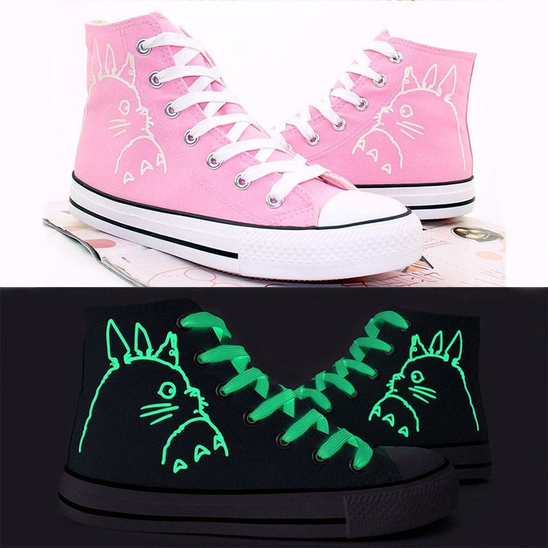 Totoro High Top Luminous Sneakers - Totemo Kawaii Shop