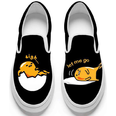 Gudetama Slip-On Low Top Sneakers - Totemo Kawaii Shop