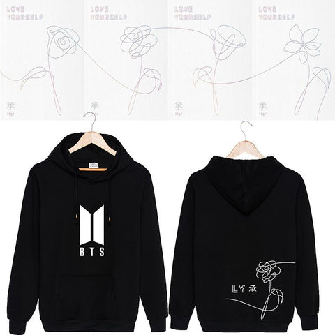 NEW BTS Love Yourself Hoodie - Totemo Kawaii Shop