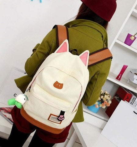 Cats Ears School Backpack - Totemo Kawaii Shop