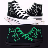 Totoro High Top Glow in Dark Sneakers - Totemo Kawaii Shop